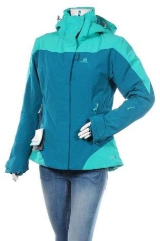 Дамско яке за зимни спортове Salomon, Размер L, Цвят Син, 89% полиамид, 11% еластан, Цена 396,75лв.