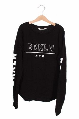 Bluză pentru copii H&M, Mărime 15-18y/ 170-176 cm, Culoare Negru, 95% bumbac, 5% elastan, Preț 46,42 Lei