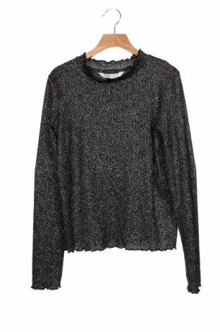 Bluză pentru copii H&M, Mărime 12-13y/ 158-164 cm, Culoare Negru, 55% poliester, 29% viscoză, 7% fire din metal, 7% poliamidă, 2% elastan, Preț 92,11 Lei