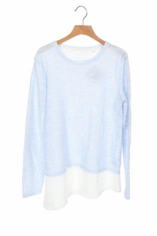 Детска блуза Here+There, Размер 12-13y/ 158-164 см, Цвят Син, 55% полиестер, 45% памук, Цена 17,85лв.