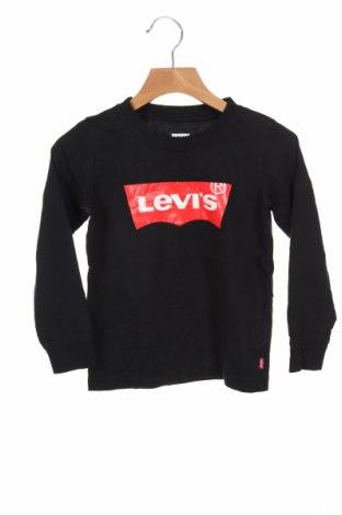 Bluză pentru copii Levi's, Mărime 3-4y/ 104-110 cm, Culoare Negru, Bumbac, Preț 152,96 Lei