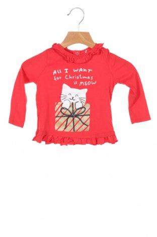 Bluză pentru copii Reserved, Mărime 6-9m/ 68-74 cm, Culoare Roșu, Bumbac, Preț 59,21 Lei