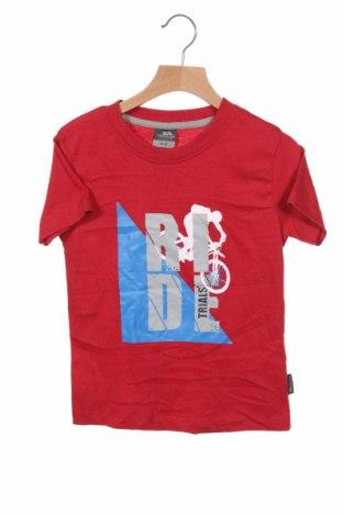 Bluză pentru copii Trespass, Mărime 5-6y/ 116-122 cm, Culoare Roșu, 50% bumbac, 50% poliester, Preț 88,82 Lei