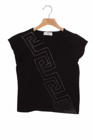 Bluză pentru copii Versace Young, Mărime 12-13y/ 158-164 cm, Culoare Negru, 96% bumbac, 4% elastan, Preț 177,63 Lei
