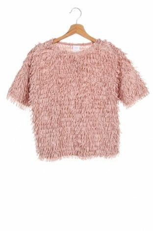 Bluză pentru copii Zara, Mărime 13-14y/ 164-168 cm, Culoare Roz, Poliester, Preț 59,68 Lei