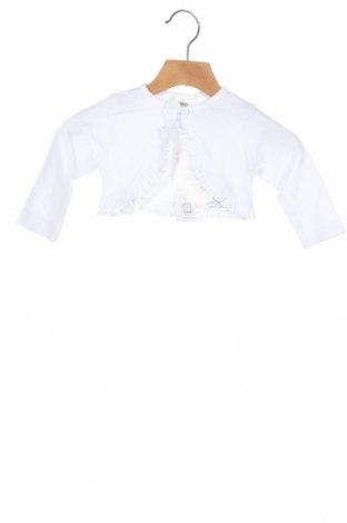 Dziecięcy kardigan Jacky, Rozmiar 3-6m/ 62-68 cm, Kolor Biały, Bawełna, Cena 78,75zł