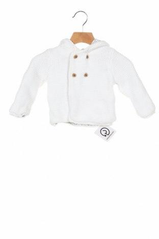 Pulover cu nasturi pentru copii Marks & Spencer, Mărime 3-6m/ 62-68 cm, Culoare Alb, Bumbac, Preț 59,21 Lei