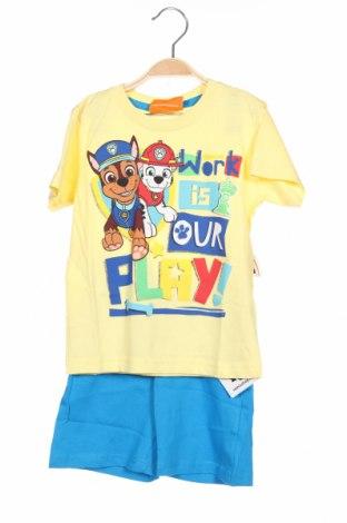 Pijama pentru copii Nickelodeon, Mărime 3-4y/ 104-110 cm, Culoare Galben, Bumbac, Preț 96,22 Lei