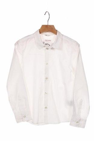 Dziecięca koszula H&M, Rozmiar 6-7y/ 122-128 cm, Kolor Biały, 65% poliester, 35% bawełna, Cena 52,80zł