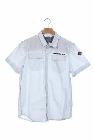 Dziecięca koszula H&M, Rozmiar 13-14y/ 164-168 cm, Kolor Niebieski, Bawełna, Cena 57,60zł
