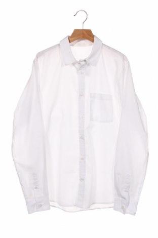Dziecięca koszula H&M, Rozmiar 13-14y/ 164-168 cm, Kolor Biały, 65% poliester, 35% bawełna, Cena 64,80zł