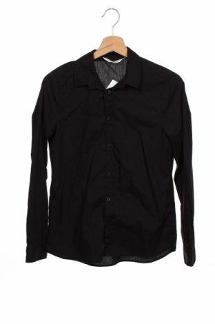 Cămașă pentru copii H&M, Mărime 13-14y/ 164-168 cm, Culoare Negru, 65% poliester, 35% bumbac, Preț 54,28 Lei