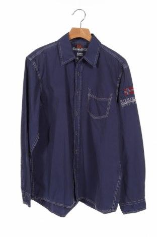 Dziecięca koszula Napapijri, Rozmiar 14-15y/ 168-170 cm, Kolor Niebieski, Bawełna, Cena 108,00zł