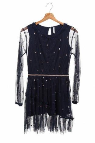 Rochie pentru copii Coccodrillo, Mărime 11-12y/ 152-158 cm, Culoare Albastru, 95% bumbac, 5% elastan, Preț 79,58 Lei