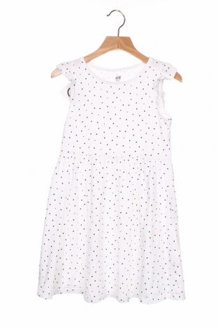 Rochie pentru copii H&M, Mărime 6-7y/ 122-128 cm, Culoare Alb, Bumbac, Preț 64,15 Lei