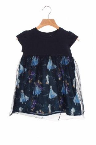 Rochie pentru copii Name It, Mărime 18-24m/ 86-98 cm, Culoare Albastru, 50% poliester, 45% bumbac, 5% elastan, Preț 138,16 Lei