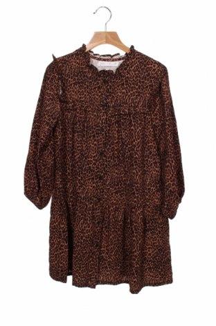 Dětské šaty  Zara, Velikost 7-8y/ 128-134 cm, Barva Hnědá, 92% viskóza, 8% elastan, Cena  311,00Kč