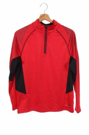 Bluză sport pentru copii ASICS, Mărime 14-15y/ 168-170 cm, Culoare Roșu, 94% poliester, 6% elastan, Preț 72,95 Lei