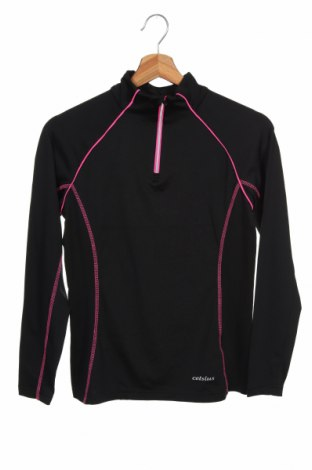 Bluză sport pentru copii Celsius, Mărime 12-13y/ 158-164 cm, Culoare Negru, 95% poliester, 5% elastan, Preț 49,74 Lei