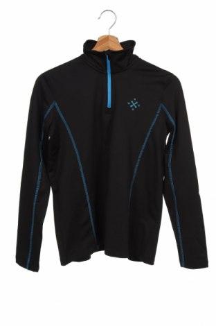 Bluză sport pentru copii Crivit, Mărime 12-13y/ 158-164 cm, Culoare Negru, 93% poliester, 7% elastan, Preț 59,68 Lei