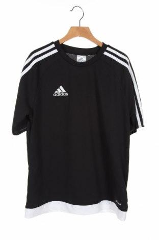 Tricou pentru copii Adidas, Mărime 12-13y/ 158-164 cm, Culoare Negru, Poliester, Preț 82,89 Lei