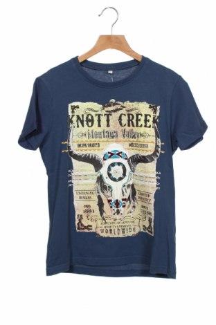Tricou pentru copii Marks & Spencer, Mărime 9-10y/ 140-146 cm, Culoare Albastru, 100% bumbac, Preț 54,28 Lei