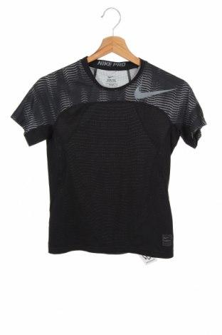 Dziecięcy T-shirt Nike, Rozmiar 9-10y/ 140-146 cm, Kolor Czarny, 86% poliester, 14% elastyna, Cena 43,20zł