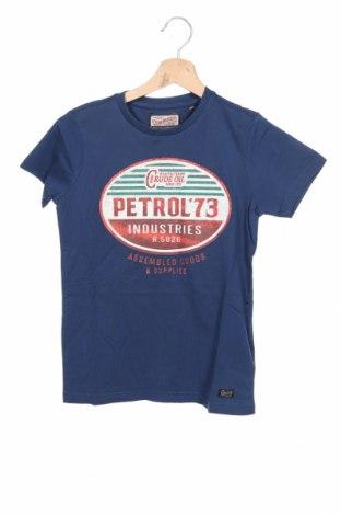 Tricou pentru copii Petrol Industries, Mărime 8-9y/ 134-140 cm, Culoare Albastru, Bumbac, Preț 83,88 Lei