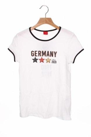 Tricou pentru copii S.Oliver, Mărime 8-9y/ 134-140 cm, Culoare Alb, Bumbac, Preț 62,50 Lei
