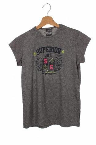 Tricou pentru copii Trespass, Mărime 10-11y/ 146-152 cm, Culoare Gri, 50% bumbac, 50% poliester, Preț 55,59 Lei