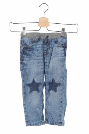 Blugi pentru copii H&M, Mărime 18-24m/ 86-98 cm, Culoare Albastru, Bumbac, Preț 56,75 Lei
