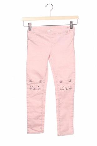 Blugi pentru copii H&M, Mărime 5-6y/ 116-122 cm, Culoare Roz, 59% bumbac, 39% poliester, 2% elastan, Preț 54,28 Lei
