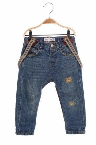 Dětské džíny  Zara, Velikost 18-24m/ 86-98 cm, Barva Modrá, Bavlna, Cena  348,00Kč