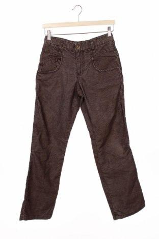 Pantaloni de catifea reiată, pentru copii United Colors Of Benetton, Mărime 12-13y/ 158-164 cm, Culoare Maro, 55% poliester, 45% bumbac, Preț 92,11 Lei