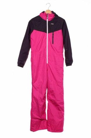Salopetă pentru copii pentru sporturi de iarnă Decathlon, Mărime 12-13y/ 158-164 cm, Culoare Roz, Poliester, Preț 162,47 Lei