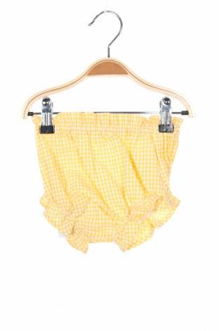 Dětské krátké kalhoty , Velikost 9-12m/ 74-80 cm, Barva Žlutá, Bavlna, Cena  245,00Kč