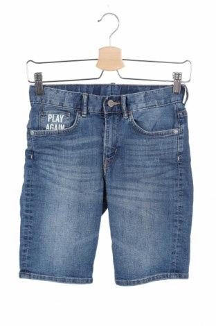 Dziecięce szorty H&M, Rozmiar 9-10y/ 140-146 cm, Kolor Niebieski, 80% bawełna, 19% poliester, 1% elastyna, Cena 43,20zł