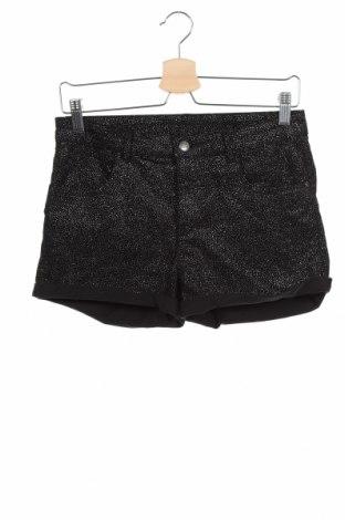 Pantaloni scurți pentru copii H&M, Mărime 13-14y/ 164-168 cm, Culoare Negru, 98% bumbac, 2% elastan, Preț 79,58 Lei