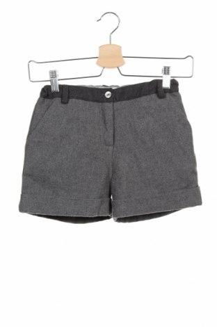 Pantaloni scurți pentru copii Mademoiselle Jacadi, Mărime 8-9y/ 134-140 cm, Culoare Gri, 55% poliester, 45% lână, Preț 76,26 Lei