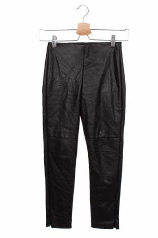 Dziecięce skórzane spodnie Zara, Rozmiar 8-9y/ 134-140 cm, Kolor Czarny, Eko skóra, Cena 47,50zł