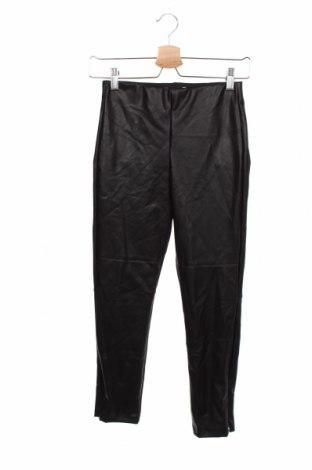 Dziecięce skórzane spodnie Zara, Rozmiar 11-12y/ 152-158 cm, Kolor Czarny, Eko skóra, Cena 55,00zł