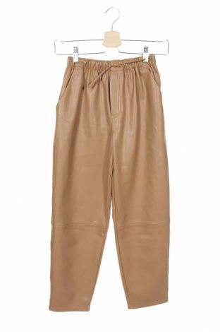 Dětské kožené kalhoty  Zara, Velikost 13-14y/ 164-168 cm, Barva Béžová, Eko kůže, Cena  701,00Kč
