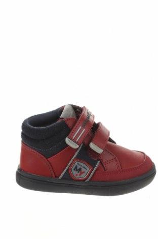 Dětské boty  Mayoral, Velikost 21, Barva Červená, Přírodní velur , Eko kůže, textile , Cena  944,00Kč