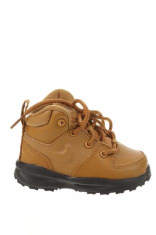 Dětské boty  Nike, Velikost 21, Barva Hnědá, Pravá kůže, textile , Eko kůže, Cena  1172,00Kč