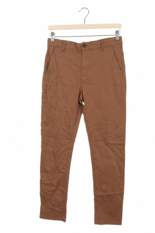 Dziecięce spodnie H&M, Rozmiar 13-14y/ 164-168 cm, Kolor Brązowy, 98% bawełna, 2% elastyna, Cena 63,00zł