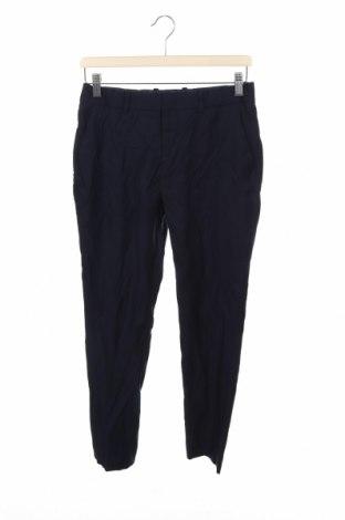 Pantaloni pentru copii H&M, Mărime 13-14y/ 164-168 cm, Culoare Albastru, 65% poliester, 28% viscoză, 7% lână, Preț 56,37 Lei