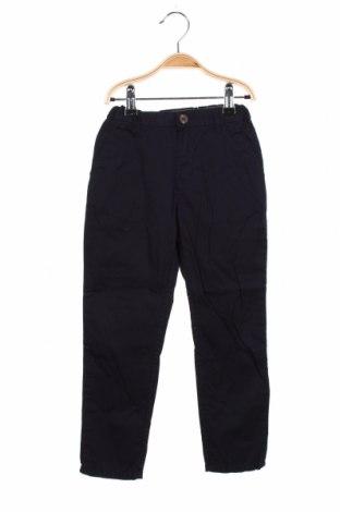 Pantaloni pentru copii H&M L.O.G.G., Mărime 5-6y/ 116-122 cm, Culoare Albastru, Bumbac, Preț 54,28 Lei