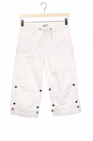 Pantaloni pentru copii Timberland, Mărime 11-12y/ 152-158 cm, Culoare Alb, 85% bumbac, 15% in, Preț 78,95 Lei