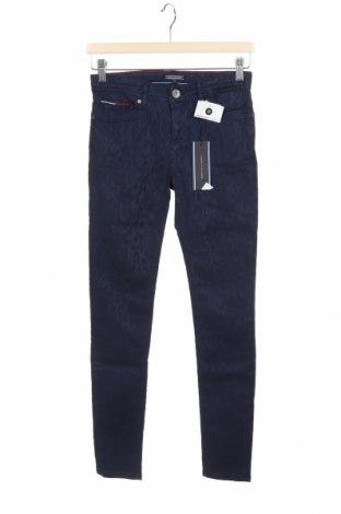 Pantaloni pentru copii Tommy Hilfiger, Mărime 13-14y/ 164-168 cm, Culoare Albastru, 60% tescel, 40% bumbac, Preț 293,59 Lei