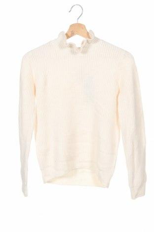 Dziecięcy sweter Cyrillus, Rozmiar 13-14y/ 164-168 cm, Kolor ecru, 36% poliamid, 35% wiskoza, 19% wełna, 10% bawełna, Cena 117,00zł